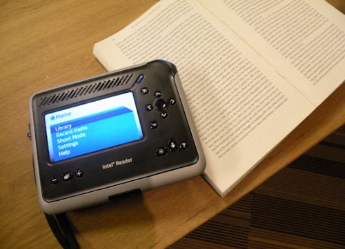 The Intel Reader Photographs Text and Reads it Back to You