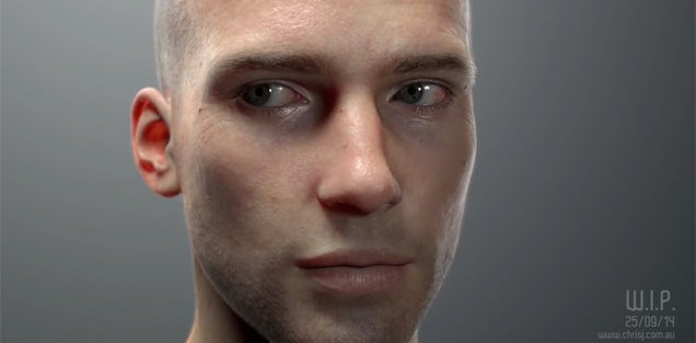 Unbelievably realistic face is actually completely computer generated