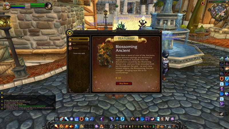 Oh Good, Now We Can Buy Virtual Pets Inside Of World of Warcraft.