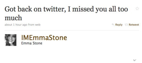 Emma Stone Returns to Twitter; Margaret Cho Prowls For Bears