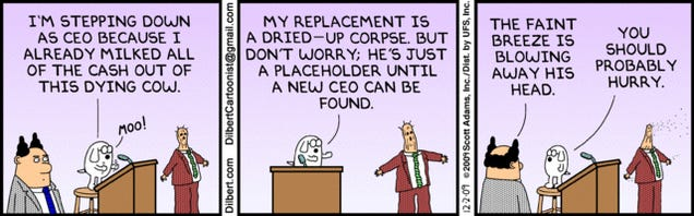 Today's Dilbert A Thinly Veiled Stab At GM Management