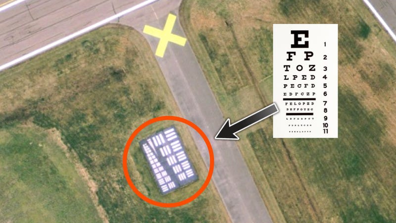 This Is What A Spy Plane Eye Chart Looks Like From The Air