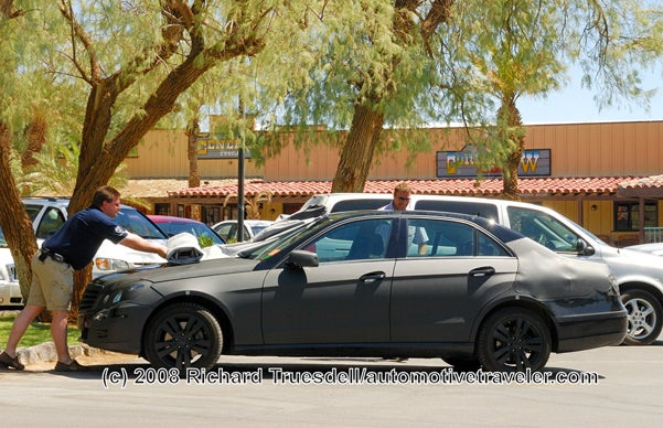 2010 Mercedes E-Class Spotted Lurking Around Death Valley