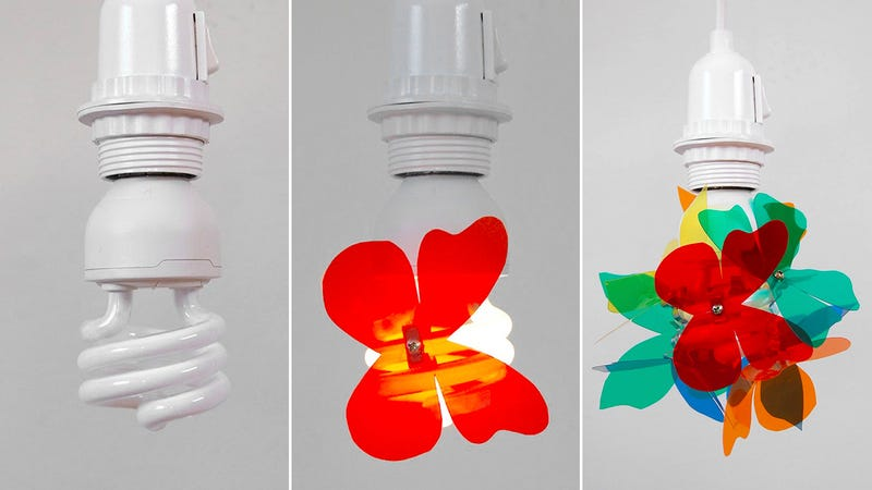 A Simple Way To Make a Compact Fluorescent Bulb Less Ugly