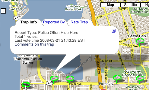 Trapster Maps and Alerts You About Speed Traps