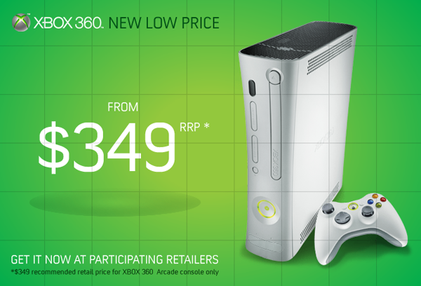 Xbox 360 Price Cuts Arrive in Australia, US Probably Following Soon