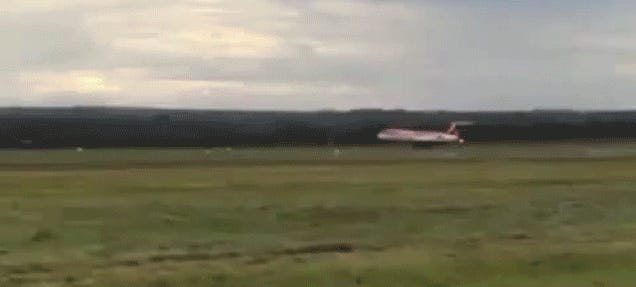 Watch This Pilot Make An Emergency Landing On Back Wheels Only
