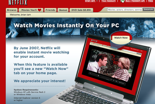 Breaking: Netflix Internet TV/Film Delivery Starts This Week
