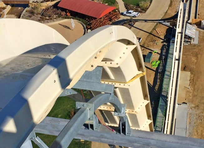New video footage of world's tallest waterslide is absolute insanity