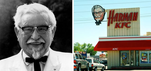 Colonel sanders yes he was a real man named harland sanders and yes he