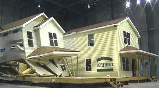 Watch a House Get Annihilated By the Insurance Industry's New Indoor Hurricane Simulator