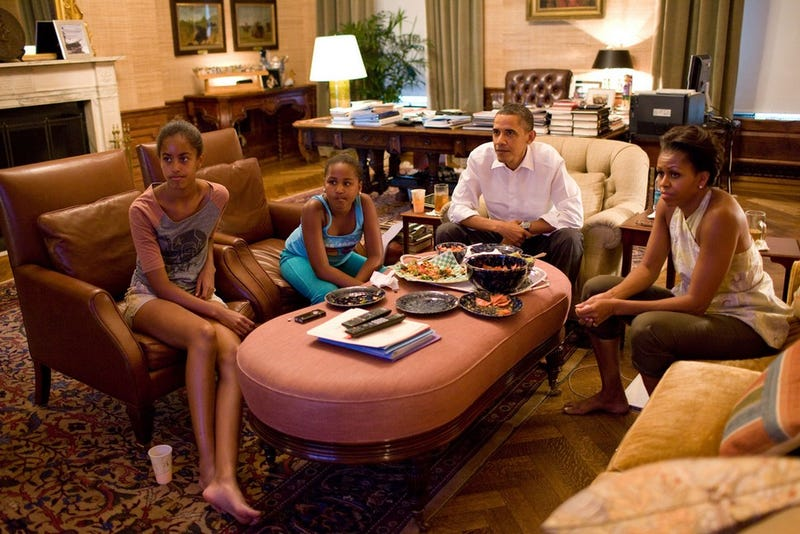 Tense Moments in the First Family's Living Room
