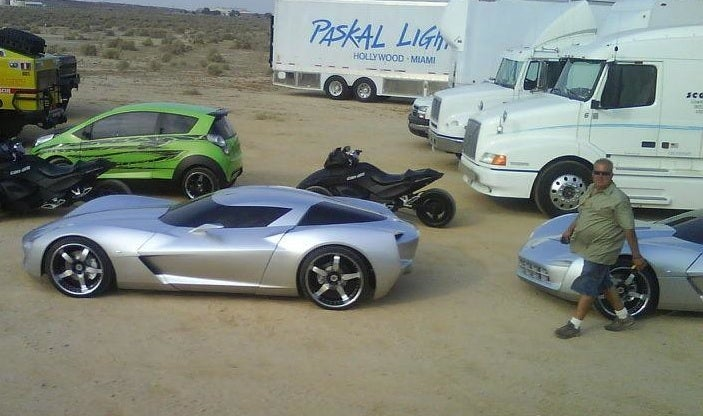 Mystery Corvette Concept From Transformers 2 Movie Gets New Beauty Shots, Multiplies!