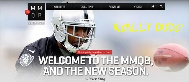 Three People Subscribed To MMQB.Com, Thinking It Was Peter King's Site