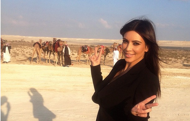 Kim Kardashian Kasually Kaused a Kerfuffle in the Middle East