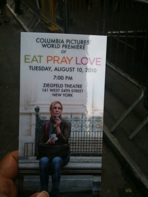 I Was A Plus-One At The Eat Pray Love Premiere
