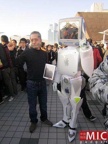 Totally Badass Cyborg Costume Made of Old Apple Computers