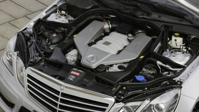 2012 Mercedes-Benz E63 gets AMG turbo V8, trees win