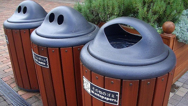 Drill Drain Holes in Your Garbage Cans and Recycling Bins