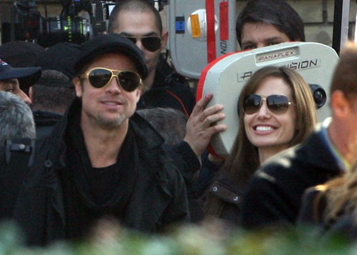 Smiles & Shades For Brad & Angelina
