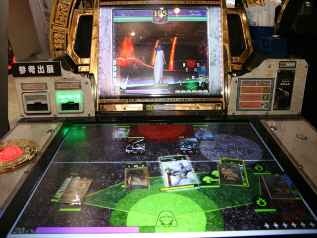 Taito Touchscreen Arcade Card Battle Game Looks Like MS Surface