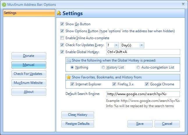 MuvEnum Address Bar Replaces the Quick-Launching Taskbar in XP SP3