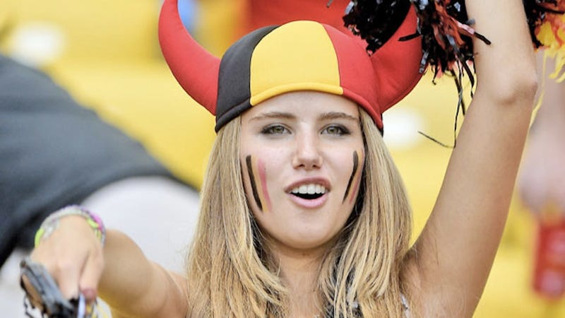 Hot Belgian World Cup Fan Has Already Lost Her L'Oreal Contract