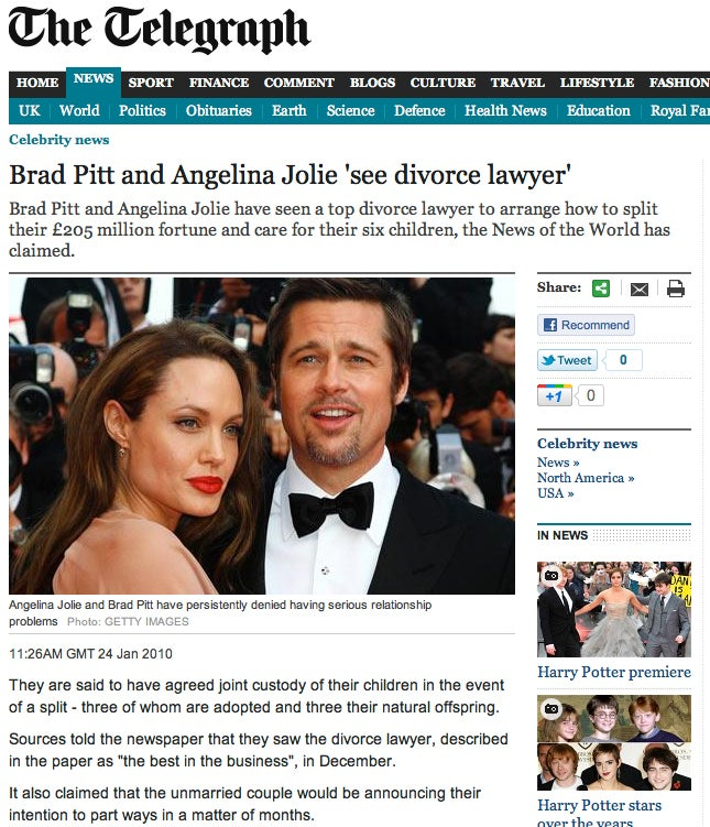 OMFG, Angelina Jolie and Brad Pitt Are Engaged.