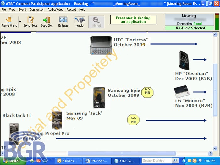 Leaked Release List Details AT&T Windows Mobile Phones