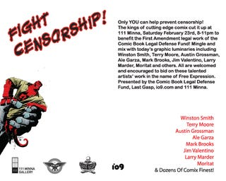 Party Tonight with io9 and Comic Book Legal Defense Fund