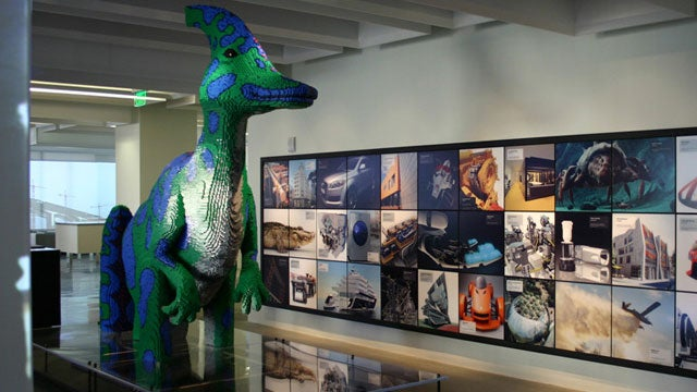 LEGO Dinosaur terrorizes city, at least until LEGO asteroid turns up