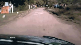 Rally Car Suspension Does <i>Alien</i> Chest Burster Impression