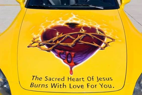 Sacred Heart Of Jesus Burns With Love…For Honda S2000?