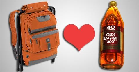 Burton Liquid Lounger Backpack Holds Playing Cards, Tunes, Chair, and Malt Liquor