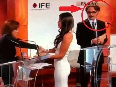 Sexy Lady Disrupts Mexican Presidential Debate with Boobs, Butt
