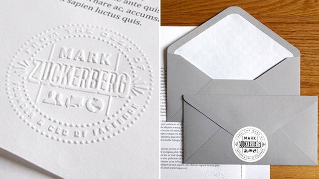Check Out Mark Zuckerberg's Fancy Stationery