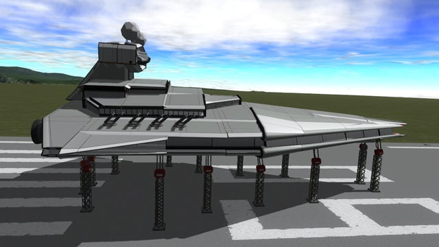 Oh Look, A Star Destroyer In Kerbal Space Program