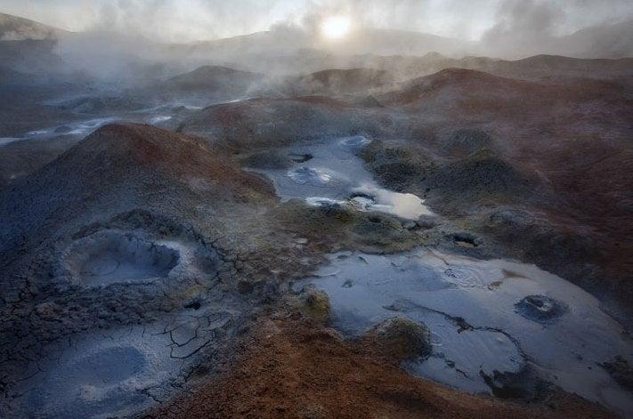 The Pale Beauty of a Martian Salt Mine