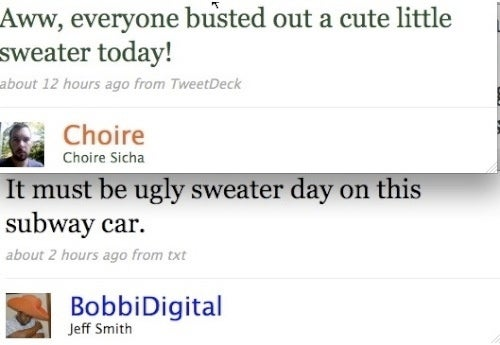 Sweater Judgments Divide Twitterati