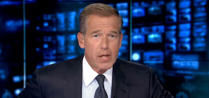 Watch Brian Williams Make a Deadpan Joke About Horny Politicians