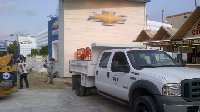 Chevy Used A Ford Truck To Set Up The Their Stage At The Texas State Fair