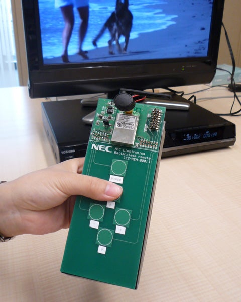 NEC's New TV Remote Uses No Batteries
