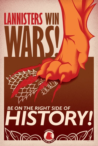 Westeros meets WWII in these Game of Thrones propaganda posters