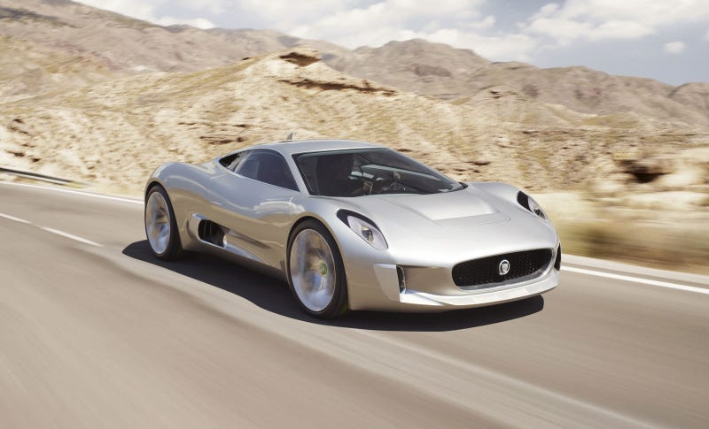 Jaguar C-X75 Concept: An Electric Jet XJ220 From The Future