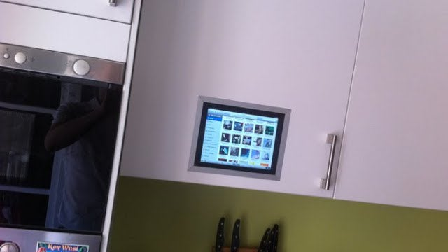 Mount an iPad in Your Kitchen Cabinet Door