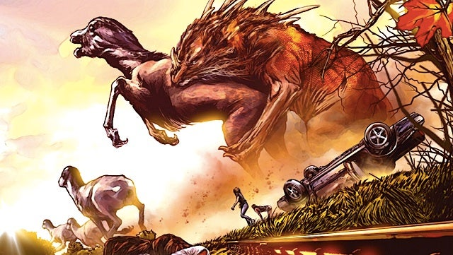 A sneak peek at Enormous, a giant monster graphic novel from Image Comics