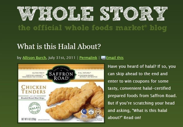 Whole Foods Caves to Wingnuts, Will Not 'Celebrate or Promote' Ramadan