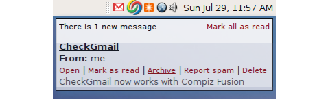 CheckGmail now works with Compiz Fusion