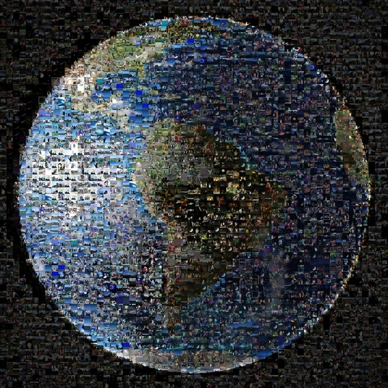 An Image of Earth Made From 1400 Photos of People Waving at Space