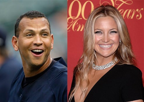 "A-Rod & Kate Hudson Swap Spit; Gwyneth & ScarJo ""Catfight"""